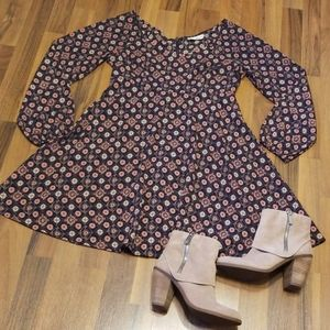 Altar'd State Navy Pink Paisley Floral Dress